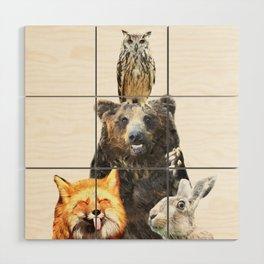 Woodland Animal Friends Wood Wall Art