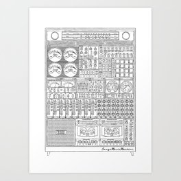 Music Machine Art Print