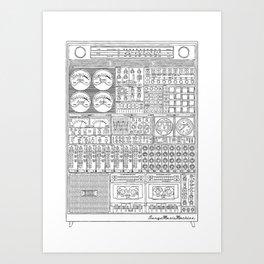 Music Machine Art Print