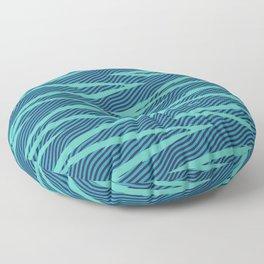Wave Ride in Teal Floor Pillow