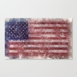 US Flag vintage worn out Canvas Print