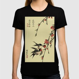 Moon Swallows and Peach Blossoms T-shirt