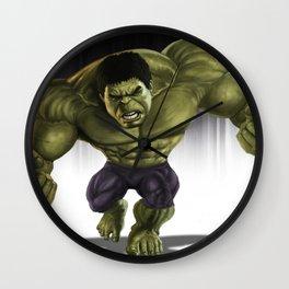 Caricature of Hulk Wall Clock