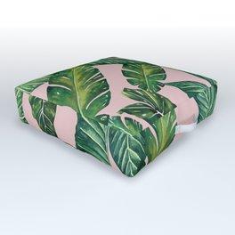 Jungle Leaves, Banana, Monstera II Pink #society6 Outdoor Floor Cushion