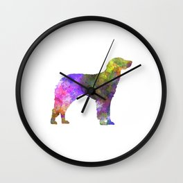 German Longhaired Pointer in watercolor Wall Clock