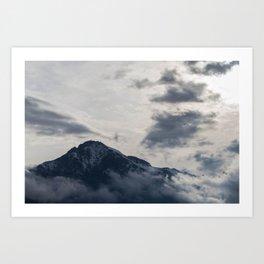 paradise over the mountain 2 Art Print