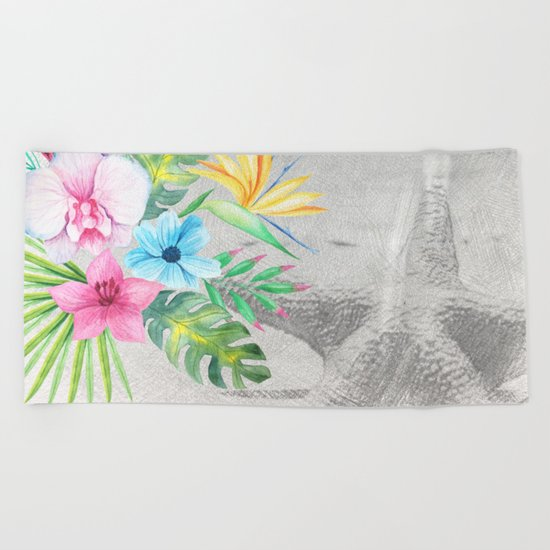 Tropical Beach #2 Beach Towel
