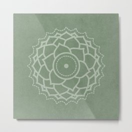 Third Eye - Sage Green Metal Print