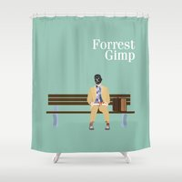 forrest Shower Curtains featuring FORREST GIMP by Ian O'Hanlon