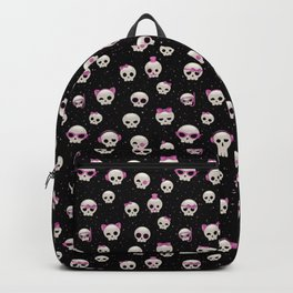 Cute Skulls with Pink Accessories Backpack
