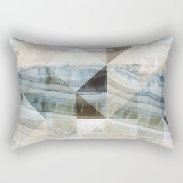Geo Marble - Natural and Blue #buyart #marble Rectangular Pillow
