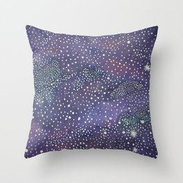 Dreamy Galaxy Painting Throw Pillow