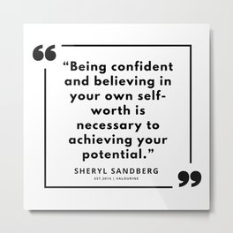 21  | Sheryl Sandberg Quotes | 190902 Metal Print