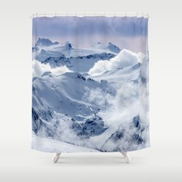 Snowy Mountains and Glaciers Shower Curtain