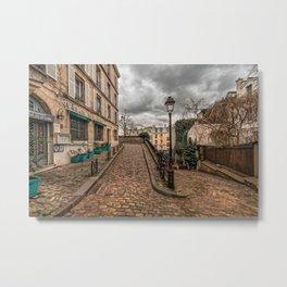 Montmartre Street Paris France Metal Print
