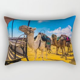 Camels In Colours Rectangular Pillow