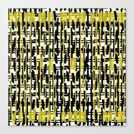 Yellowabstract Canvas Print