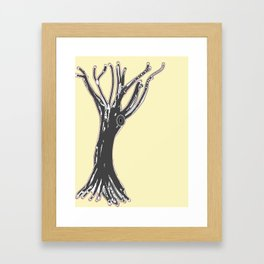 unblinking tree Framed Art Print