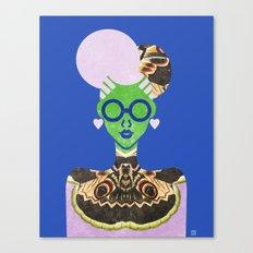 Moth Cheongsam Canvas Print