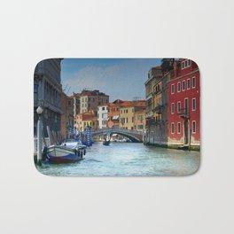 Venice Italy Canal Houses Bath Mat