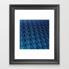 Chevrons: Cold Steel Framed Art Print