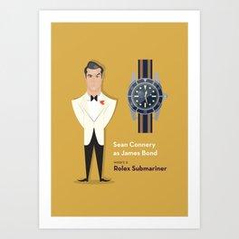 James Bond rocks a Rolex Art Print