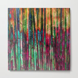 Colored Bamboo Metal Print
