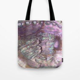 Shimmery Lavender Abalone Mother of Pearl Tote Bag