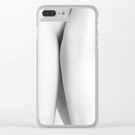Two Women. Minimalist hug Clear iPhone Case