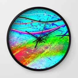 Color Tasting 2 - Light Painting Experiment Wall Clock