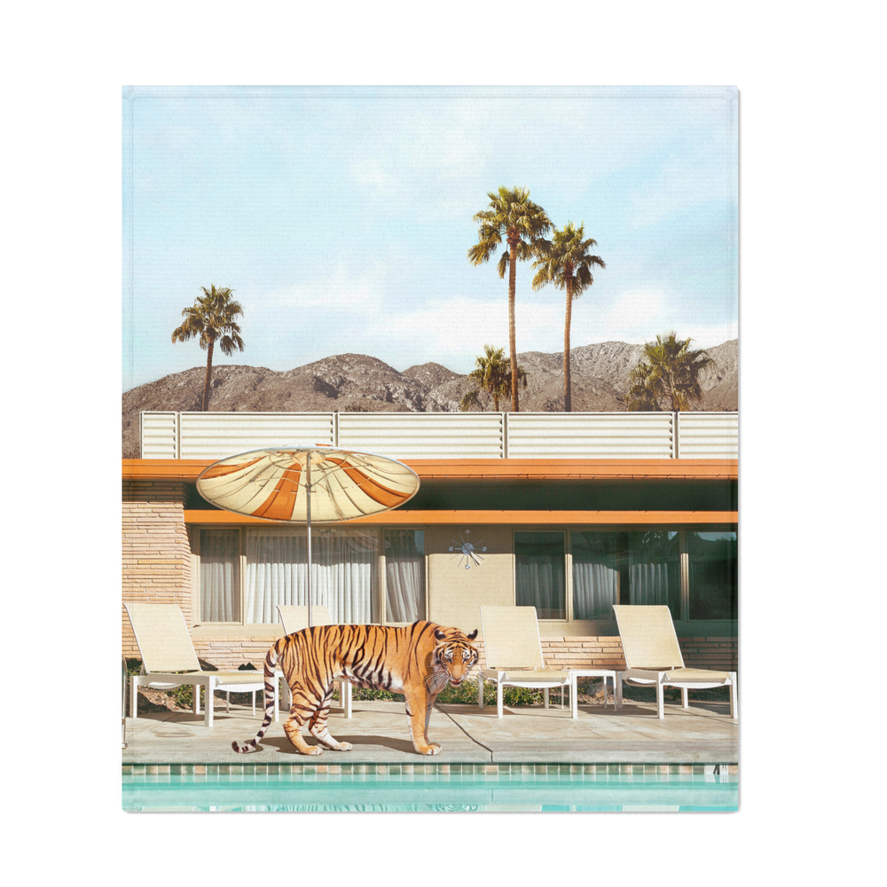Pool_Party_Tiger_Throw_Blanket_by_paulfuentesphoto