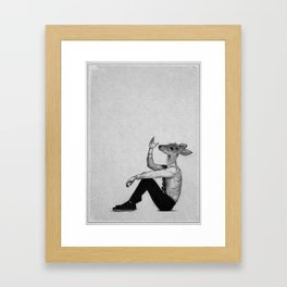 . oh deer . Framed Art Print
