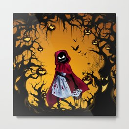 Red Riding Hood Nightmare Metal Print