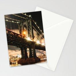 manhattan bridge Stationery Cards
