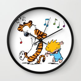 Calvin and Hobbes Dancing Wall Clock