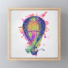 AP105 Hot air baloon Framed Mini Art Print
