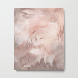 Daydream Pink White Gold Painting Metal Print