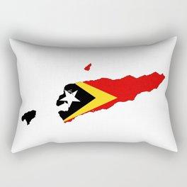east timor flag map Rectangular Pillow
