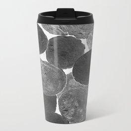 Abstract Gray Metal Travel Mug