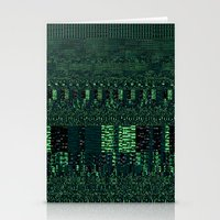 glitch Stationery Cards featuring Glitch by Pudding