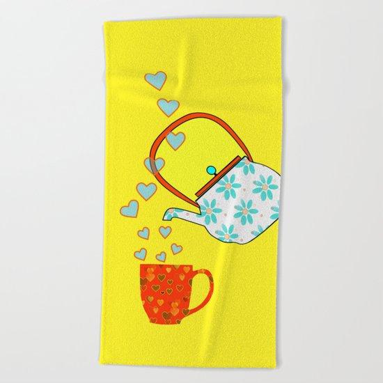 A Nice Cup Of Tea Beach Towel