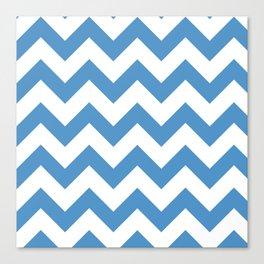 light blue chevron pattern Canvas Print