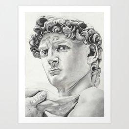 The David Drawing Art Print