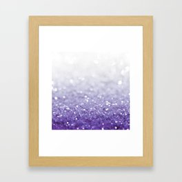 MERMAIDIANS PURPLE GLITTER Framed Art Print