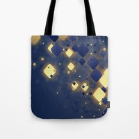 data Tote Bags featuring Data Skys by ReinventZen