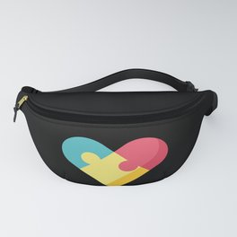 Autism Awareness Colorful Heart graphic Gift for Mom Fanny Pack