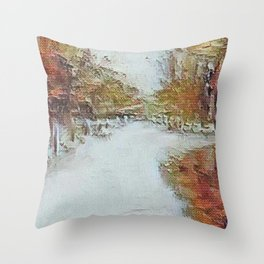 """ Fall In The Country "" Throw Pillow"