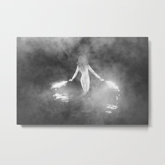 Fire Swim With Me Metal Print