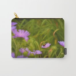 A Bee on Stokes' Aster Carry-All Pouch
