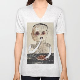 All You Can Eat Wings (I Like Mine Hot) Unisex V-Neck